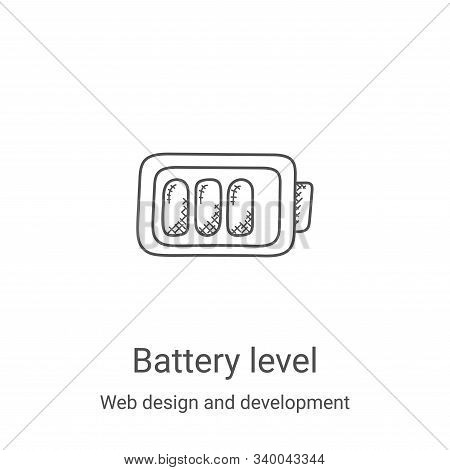 battery level icon isolated on white background from web design and development collection. battery