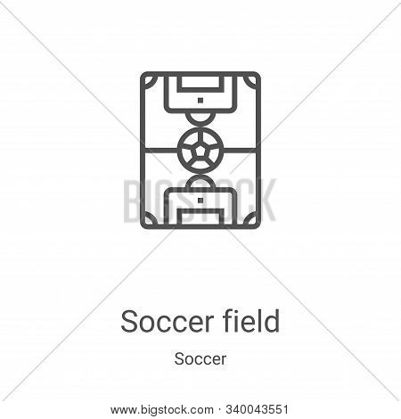 soccer field icon isolated on white background from soccer collection. soccer field icon trendy and