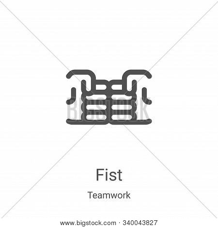 fist icon isolated on white background from teamwork collection. fist icon trendy and modern fist sy