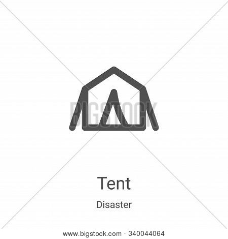 tent icon isolated on white background from disaster collection. tent icon trendy and modern tent sy