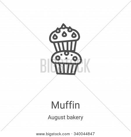 muffin icon isolated on white background from august bakery collection. muffin icon trendy and moder