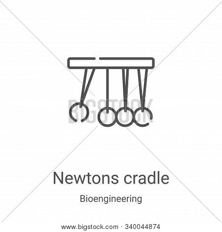 newtons cradle icon isolated on white background from bioengineering collection. newtons cradle icon