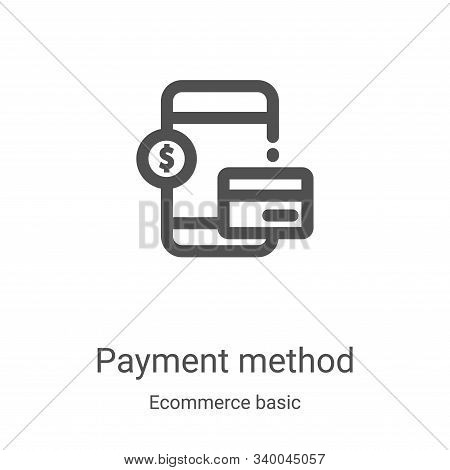 payment method icon isolated on white background from ecommerce basic collection. payment method ico