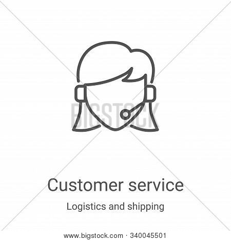 customer service icon isolated on white background from logistics and shipping collection. customer