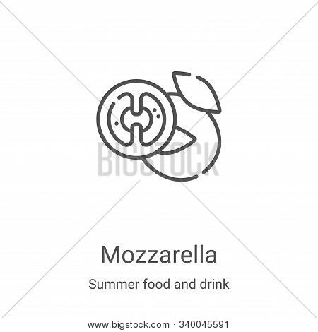 mozzarella icon isolated on white background from summer food and drink collection. mozzarella icon