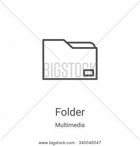 folder icon isolated on white background from multimedia collection. folder icon trendy and modern f