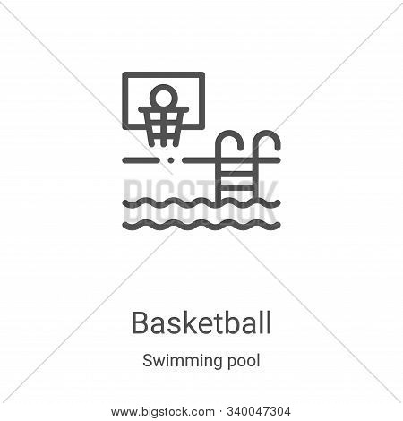 basketball icon isolated on white background from swimming pool collection. basketball icon trendy a