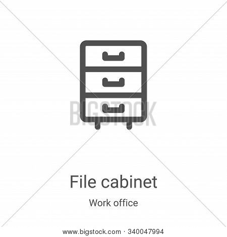file cabinet icon isolated on white background from work office collection. file cabinet icon trendy
