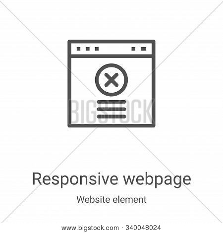responsive webpage icon isolated on white background from website element collection. responsive web