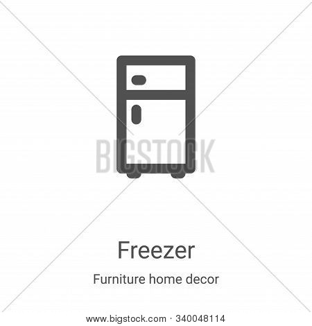 freezer icon isolated on white background from furniture home decor collection. freezer icon trendy