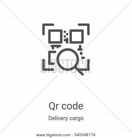 qr code icon isolated on white background from delivery cargo collection. qr code icon trendy and mo
