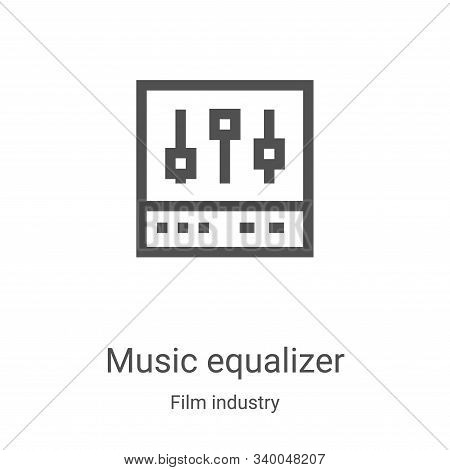 music equalizer icon isolated on white background from film industry collection. music equalizer ico
