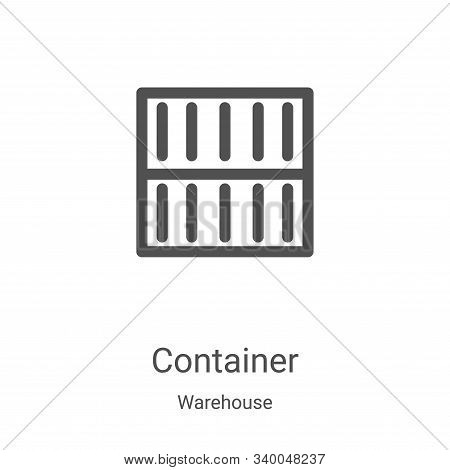 container icon isolated on white background from warehouse collection. container icon trendy and mod