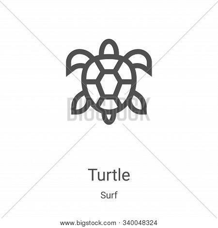 turtle icon isolated on white background from surf collection. turtle icon trendy and modern turtle