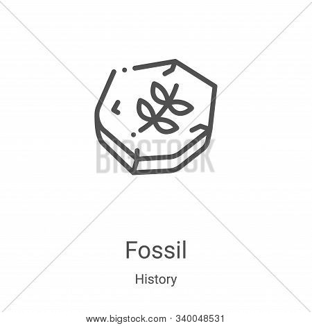 fossil icon isolated on white background from history collection. fossil icon trendy and modern foss