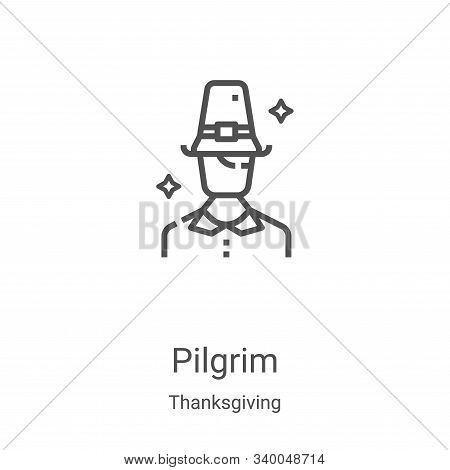 pilgrim icon isolated on white background from thanksgiving collection. pilgrim icon trendy and mode