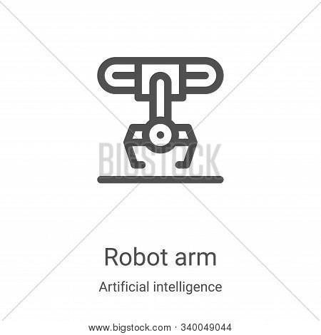 robot arm icon isolated on white background from artificial intelligence collection. robot arm icon