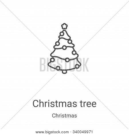 christmas tree icon isolated on white background from christmas collection. christmas tree icon tren