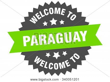 Paraguay Sign. Welcome To Paraguay Green Sticker