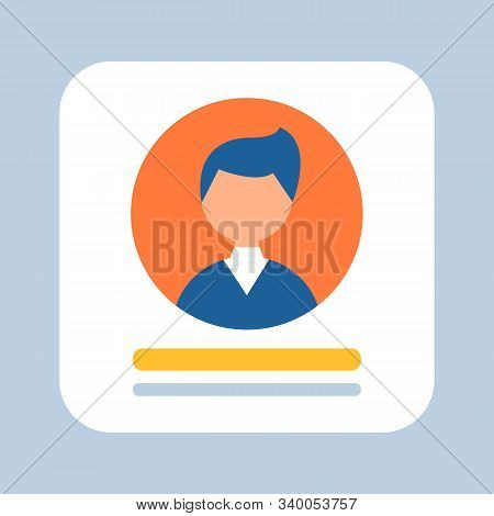 Business Person Represented On Icon Vector, Businessman Wearing Formal Suit, Avatar Of Male Working