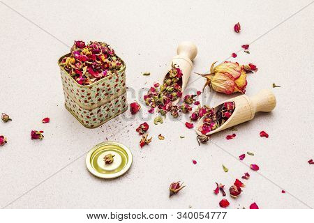 Traditional Turkish Tea From Rosebuds
