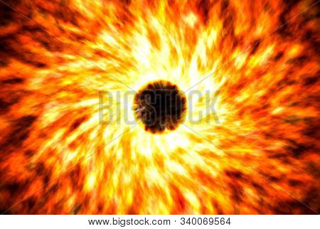 Supernovae Are A Bright Flash Star In Space. Explosion Of Huge Amounts Of Energy