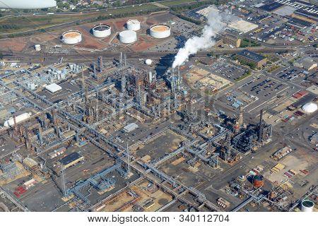 Bayway Refinery In Elizabeth City, New Jersey, Usa.