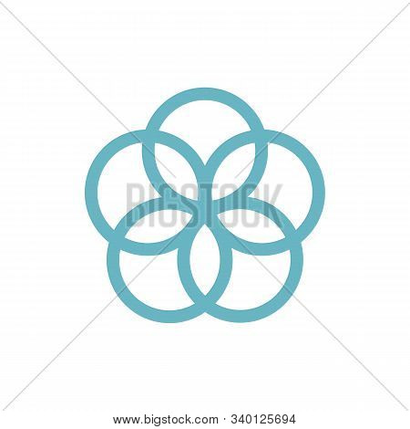 Seed Of Life. Precursor Of Flower Of Life Symbol. Unique Geometrical Figure, Composed Of Seven Overl