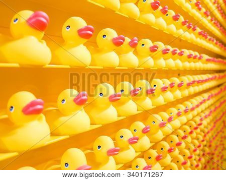 Lot Of Yellow Colored Ducklingtoys In Store,playful Toys For Kids