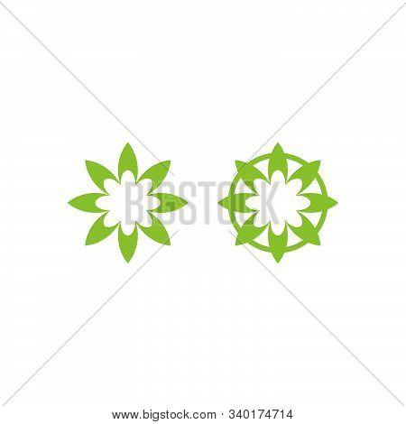 Green Nature Icon Logo Design. Simple Flat Vector Illustration