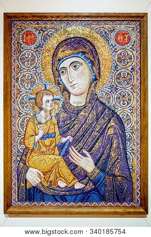 Church Icon Of The Mother Of God  And Child