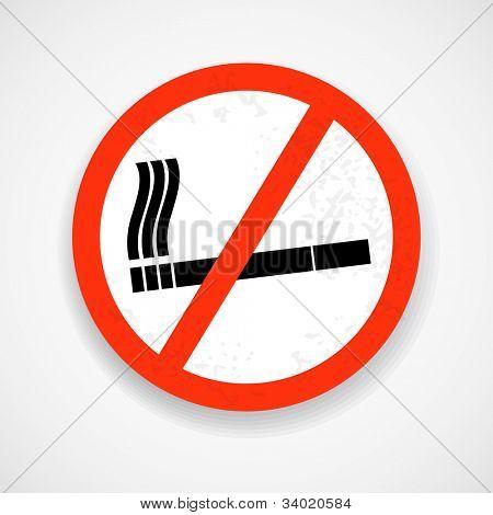 No smoking. Grunge sign