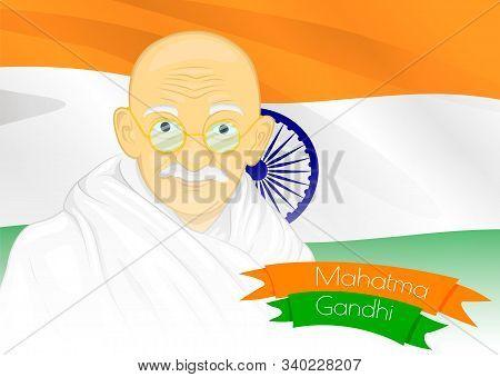 Gandhi Jayanti Or October 2 With Creative Illustration Design, The Birthday Of Mohandas Karam Chandr