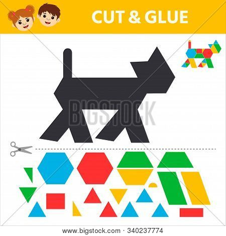 Education Logic Game For Preschool Kids. Find A Match Between A Marine Animal And Geometric Shapes.