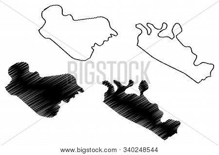 Posavina Canton (bih, Federation Of Bosnia And Herzegovina, Fbih) Map Vector Illustration, Scribble