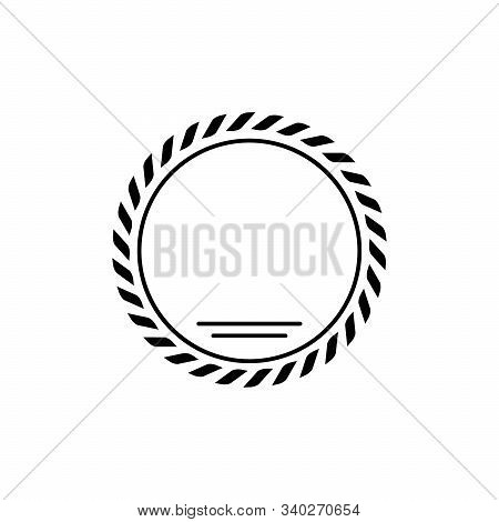 Laurel Wreath Glyph Icon And Leaves In Ring Sign Isolated On White. Ornament Of Leaf. Winning, Certi
