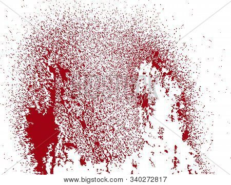 A Spot Of Blood. Stains Blood Splatter. Vector Illustration On Isolated Background.