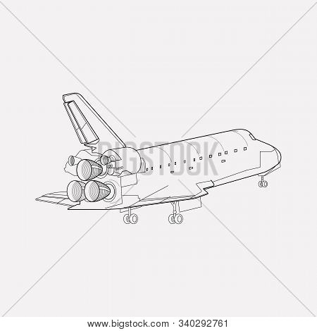 Shuttle Icon Line Element. Vector Illustration Of Shuttle Icon Line Isolated On Clean Background For