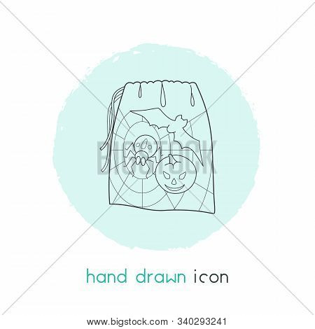 Gift Sack Icon Line Element. Vector Illustration Of Gift Sack Icon Line Isolated On Clean Background
