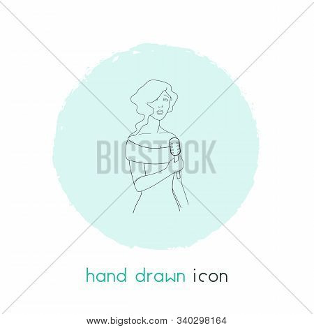 Vocalist Icon Line Element. Vector Illustration Of Vocalist Icon Line Isolated On Clean Background F