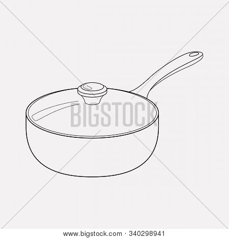 Saucepan Icon Line Element. Illustration Of Saucepan Icon Line Isolated On Clean Background For Your
