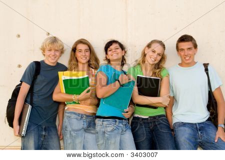 Group Of Teenagers Students