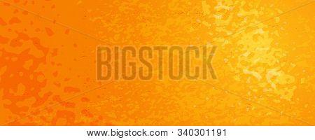 Abstract Vector Texture Of Orange Fruit Peel. Bright Citrus Skin Background