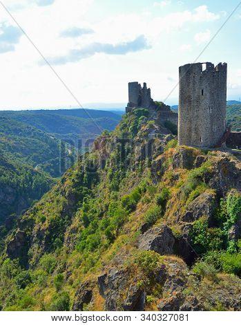2 Of The 4 Castles At Lastours Castles Languedoc-roussillon France