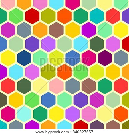 A Colorful Abstract Geometric Honeycomb Background Pattern.