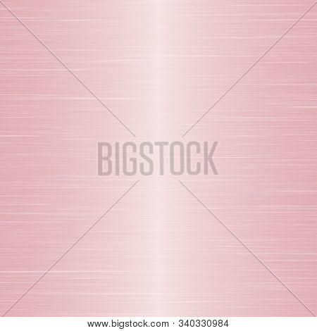 Simple Background Texture Resembling Stainless Steel Or Pink Metal.