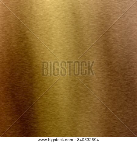 Simple Background Texture Resembling A Brushed Metal Bronze Gold Effect.