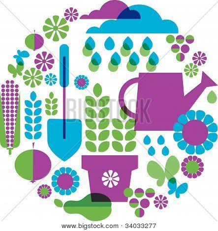 garden patterned background