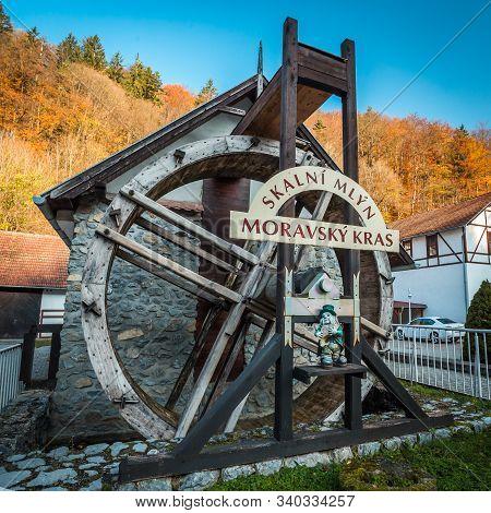 Moravian Karst, Czech Republic - 29 October 2019 - Watermill Skalni Mlyn In Moravian Karst Or In Cze