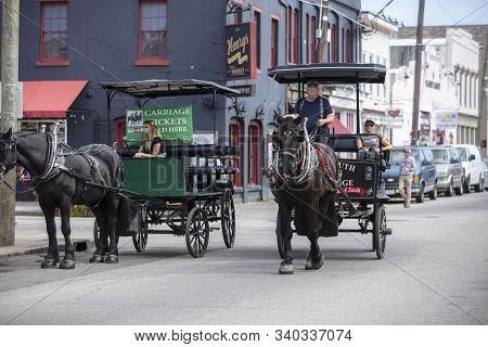 Charleston, South Carolina, United States, November 2019, Charleston Horse Carriages